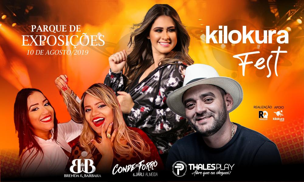 Kilokura Fest no Parque de Exposições de Jaguaribe, dia 10 de agosto de 2019. Atrações: Brenda & Barbara, Conde do Forró e Thales Play