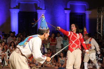Cortejo de abertura: Teatro de caretas Dona Zefinha, Garajal, Juká de teatro, Cia. Oficante, Fundação Tuboarte, Cia. Íkarus de artes cênicas