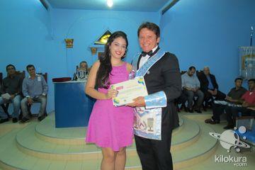 Homenagem da Loja Maçônica de Jaguaribe aos alunos premiados na OBMEP 2013 - Olimpíada Brasileira de Matemática das Escolas Públicas.